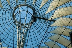 Sony Center. Roof of new commercial center at the Potsdamer Platz in former east Berlin stock image