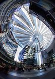 Sony Center. In Potsdamer Platz in Berlin, Germany. May 6, 2012 royalty free stock photography