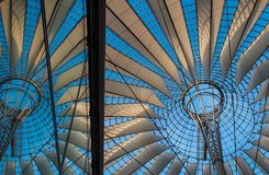 Sony Center. Amazing roof at Sony Center in Berlin, Germany Stock Images