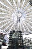 Sony Center Berlin. The architecture of th Sony Center in Potsdamer Platz Berlin Stock Photo