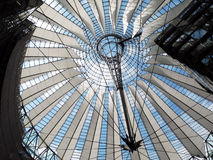 Sony Center in Berlin. The Sony Center is one of the most impressive new district of Berlin Stock Photography