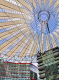 Sony Center, Berlin. The distinctive roof of the Sony Center in Berlin, Germany, viewed from below Stock Images
