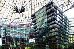 Sony Center, Berlin. Picturesque landscape with the Sony Center, Berlin Royalty Free Stock Images
