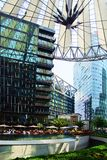 Sony Center, Berlin. Picturesque landscape with  the Sony Center, Berlin Royalty Free Stock Photos