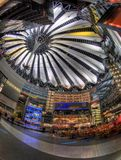 Sony Center in Berlin. The Sony Center is Sony-sponsored building complex located at the Potsdamer Platz. Sony Center contains a mix of shops, restaurants. It Stock Image