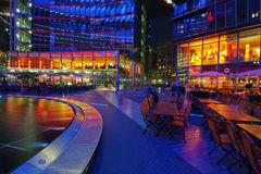 Sony Center in Berlin. The square under the dome of the Sony Center at the Potsdamer Platz in Berlin, Germany stock photos