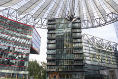 Sony Center in Berlin Lizenzfreies Stockfoto