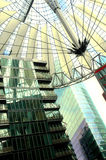 Sony Center in Berlin. Hi-Tech/Modern architecture of the Sony Center in Berlin Royalty Free Stock Photo