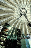 Sony Center in Berlin. Hi-Tech/Modern architecture of the Sony Center in Berlin Royalty Free Stock Image