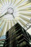 Sony Center in Berlin stock image