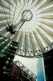 Sony Center in Berlin. Hi-Tech/Modern architecture of the Sony Center in Berlin Royalty Free Stock Images