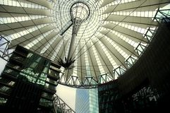 Sony Center in Berlin. Hi-Tech/Modern architecture of the Sony Center in Berlin Stock Photos
