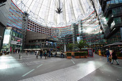 Sony Center. Berlin. The Sony Center is a building complex. Ensemble of buildings at Potsdamer Platz in the heart of the German capital, one of the symbols of Royalty Free Stock Images