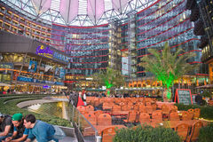 Sony Center Berlin. The Sony Center is a building complex. Ensemble of buildings at Potsdamer Platz in the heart of the German capital, one of the symbols of the stock image