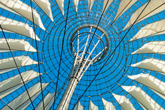Sony Center Berlin. A canopy at the Sony Center office location at Potsdamer Platz in downtown Berlin, Germany Royalty Free Stock Images