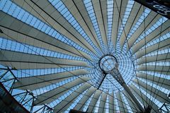 Sony center in Berlin city. Landmark of Berlin. The Sony center in Potsdam Square in the West Berlin royalty free stock photos