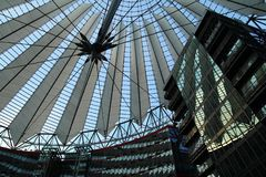 Sony center in Berlin city. Landmark of Berlin. The Sony center in Potsdam Square in the West Berlin royalty free stock images