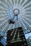 Sony center in Berlin city. Landmark of Berlin. The Sony center in Potsdam Square in the West Berlin stock image