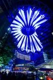 Sony Center in Berlin. Sony commercial center in Postdamar Platz at night Stock Photography