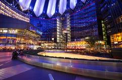 Sony Center in Berlin. Sony commercial center in Postdamar Platz at night Stock Images