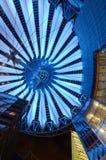 Sony Center in Berlin. Sony commercial center in Postdamar Platz at night Royalty Free Stock Photos