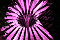 The Sony Center from Berlin. The dome of Sony Center Berlin Royalty Free Stock Photography