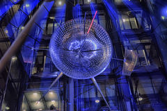Sony-Center in Berlin. Futuristic Roof of the Sony Center in Berlin illuminated at Night stock image