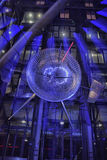 Sony-Center in Berlin. Futuristic Roof of the Sony Center in Berlin illuminated at Night stock images