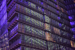 Sony-Center in Berlin. Futuristic Roof of the Sony Center in Berlin illuminated at Night royalty free stock photo