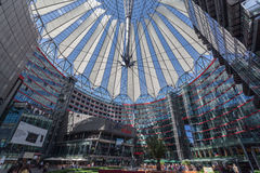 Sony Center Berlin Germany Stock Afbeeldingen