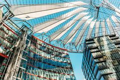 Sony Center, Berlin Germany. A canopy at the Sony Center office location at Potsdamer Platz in downtown Berlin, Germany Stock Photo