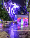 Sony center berlin germany europe. Night view the sony center in berlin Stock Images
