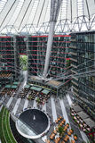Sony center berlin germany europe. Vertical view inside the sony center in berlin royalty free stock photography