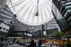 Sony center berlin germany europe. View inside the sony center in berlin Royalty Free Stock Image