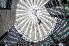 Sony center berlin germany europe. View inside the sony center in berlin Stock Photography