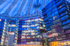 Sony center. Berlin, Germany - February 2, 2017: Futuristic looking Sony Center building by Potsdammer Platz Stock Photography