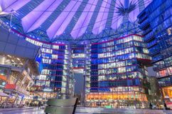 Sony center. Berlin, Germany - February 2, 2017: Futuristic looking Sony Center building by Potsdammer Platz Royalty Free Stock Images