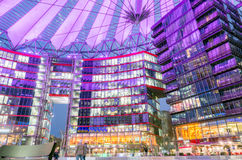 Sony center. Berlin, Germany - February 2, 2017: Futuristic looking Sony Center building by Potsdammer Platz Stock Images