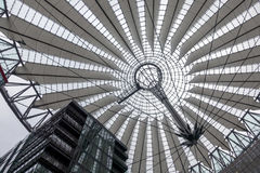 Sony center. Berlin, Germany - February 7, 2017: Futuristic looking Sony Center building by Potsdammer Platz Stock Photos