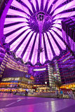 Sony Center - Berlin. BERLIN, GERMANY - JUNE 10: The Sony Center ceiling with the light show on June 10, 2013 in Berlin, Germany. The Sony Center is a Sony Royalty Free Stock Photo