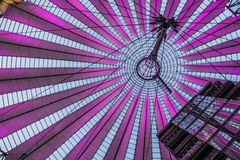 Sony center in berlin germany. The roof of the sonycenter in berlin Royalty Free Stock Photo