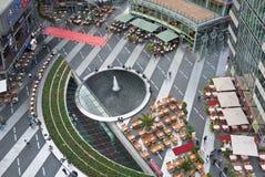 Sony Center Berlin interior. Birdsview of interior of Sony Center in Berlin, a landmark building in Germany Stock Image