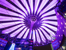 Sony Center Berlin. BERLIN - JANUARY 1 2016: Potsdamer platz, Sony Center with the futuristic roof top royalty free stock photography