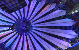 Sony Center, Berlin. Sony Center at night in Potsdamer Platz (Berlin, Germany royalty free stock photos