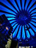 Sony Center Berlin. The roof in Sony Center of Berlin in the evening royalty free stock photos