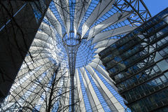 Sony Center building. The Sony Center building complex located at the Potsdamer Platz in Berlin, Germany stock photos