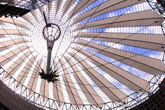 Sony Center ceiling architecture in Berlin, Germany Stock Photo