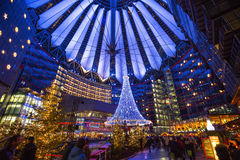 Sony Center at Christmas, Berlin. Germany Royalty Free Stock Photos