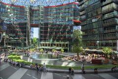 Sony Center en Berlín imagen de archivo