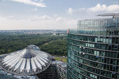 Sony Center. Image showing the famous Sony Center, Potsdamer Platz, in Berlin Stock Photos